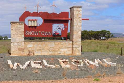 Snowtown's town sign
