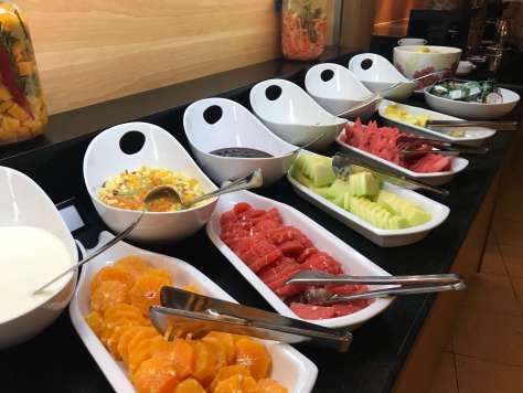 Breakfast at the Metropolitan restaurant in the Sheraton Tirana hotel