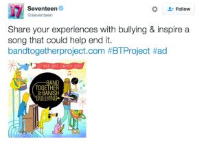 Seventeen Mag tweets about #BTProject
