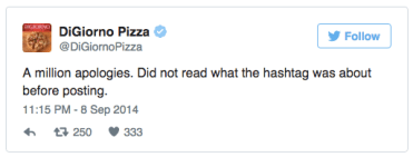 Digiorno social media fail