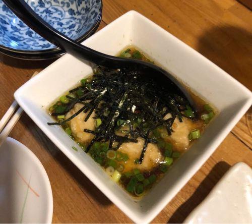 石垣島「ひとし」のジーマーミ豆腐の揚げ出し