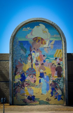This is one of a number of tiled mural art in and around Long Beach.