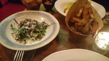 Jamie's Italian Funky Chips and Rocket Salad