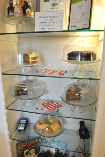Molly's Tearooms cake selection