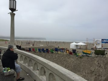 Volleyball tourney setup in Seaside