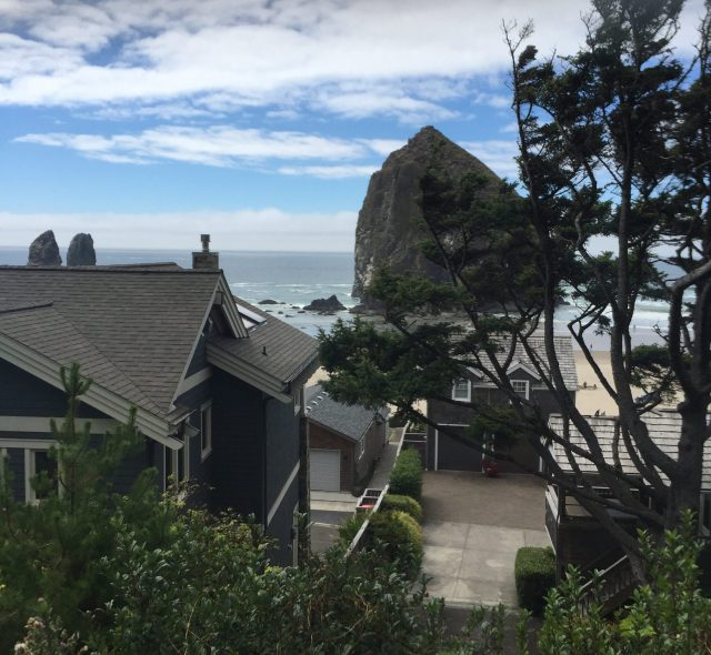 Haystack rock from the route