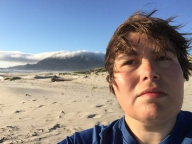 A series of selfies at Nehalem Bay