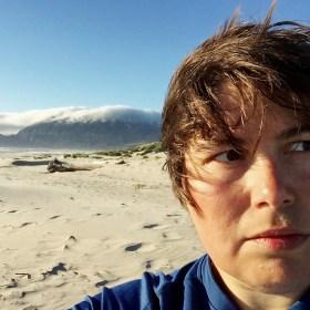 A series of selfies at Nehalem Bay