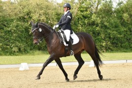 Nicki Greenhill, a blind para rider has the assistance of her husband Gary, who was kept very busy keeping his combination to the right plan. Hickstead is running an unaffiliated day of all the regionals tests so riders can come and practise them on the site itself