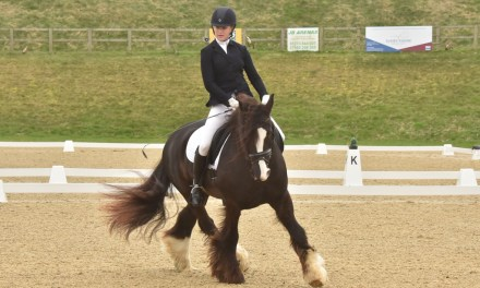Exciting sailing for dressage riders in windy West Sussex