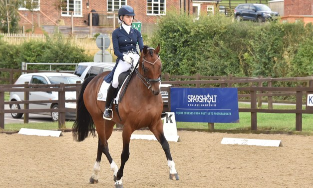 High scoring and happy to be there dressage at Sparsholt