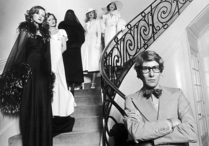 Yves Saint-Laurent (1936-2008), French couturier. Paris, on April 11, 1974.