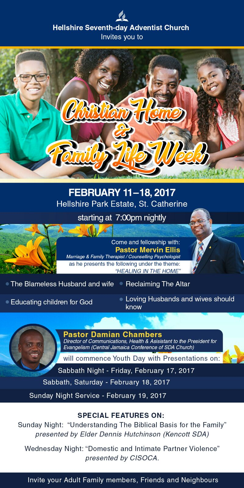 CISOCA to Address Domestic Violence Tonight at Hellshire SDA's Christian Home and Family Week -Portmore Citizens News