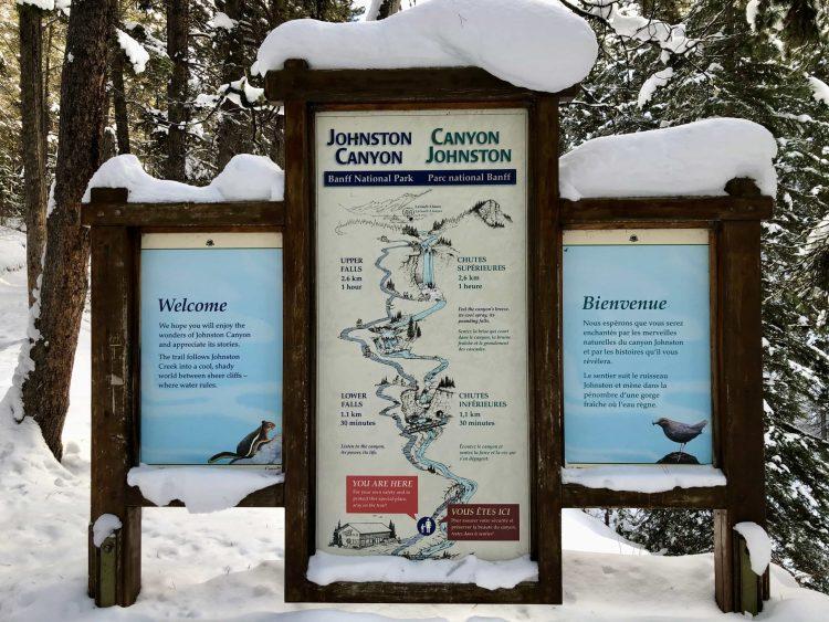 The Johnston Canyon