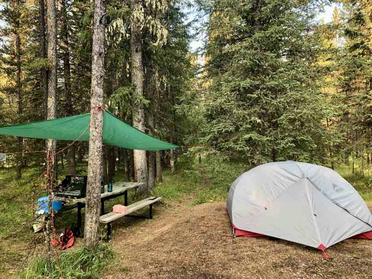 Staying at the Ram Falls campground