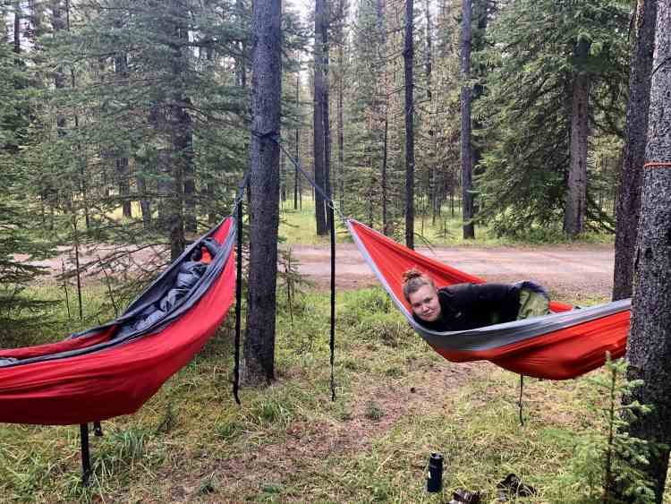 Relaxing at the Ram Falls campground