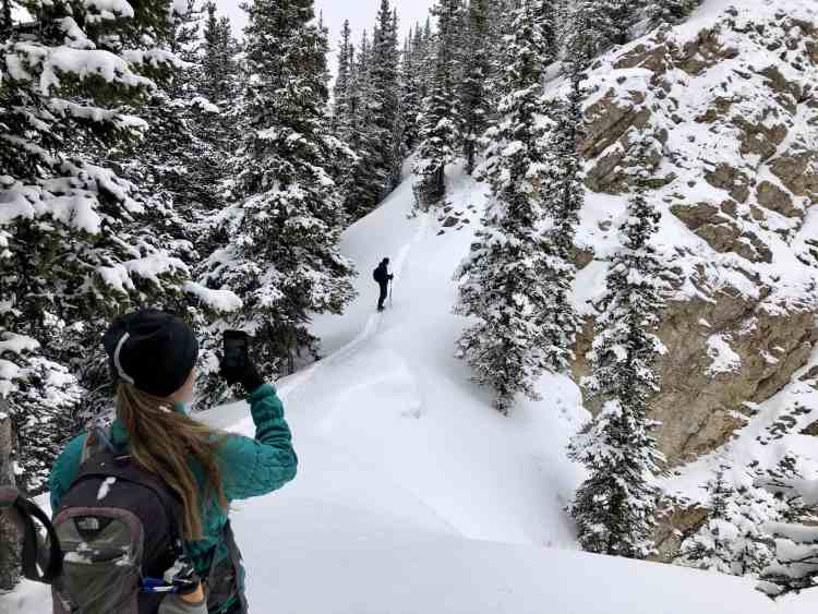 Crossing the col on South Lawson Peak