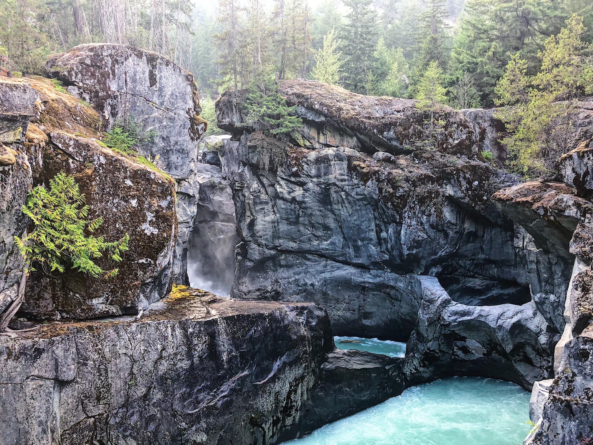 Nairn Falls Hike Near Whistler, BC via @outandacross