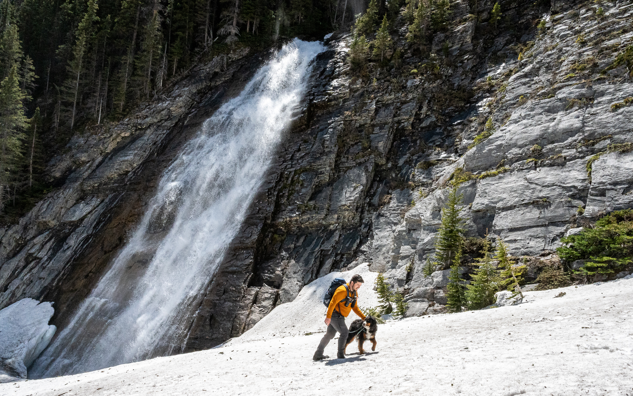 Ribbon Falls Hike in Kananaskis Country, Alberta via @outandacross