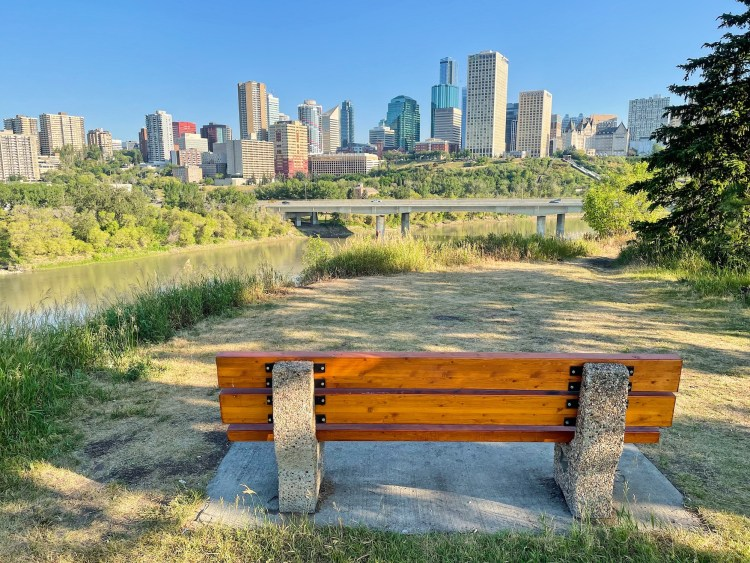 Biking in Edmonton lookout views