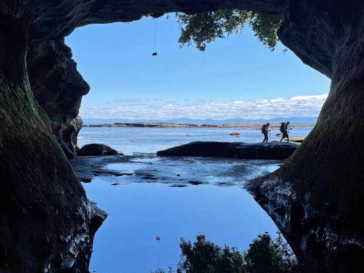 The sea cave on the West Coast Trail