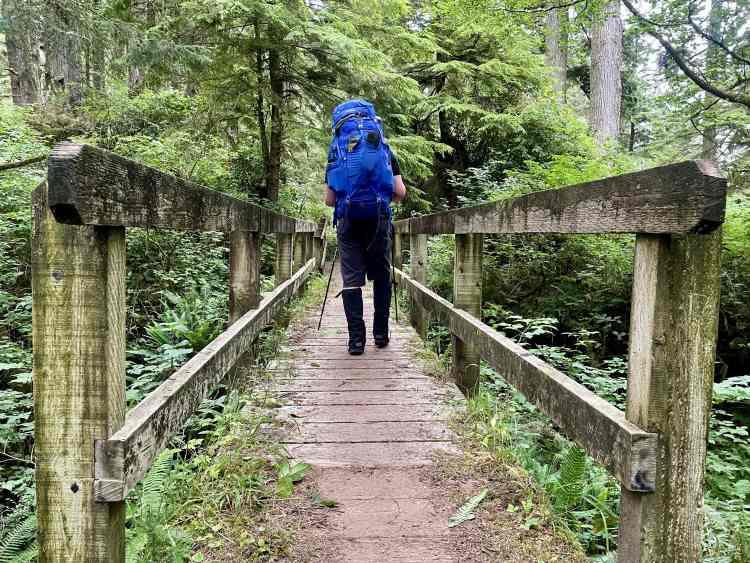 Hiking the West Coast Trail boardwalk