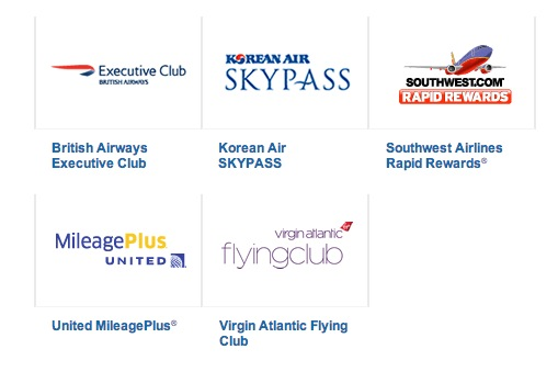 Ultimate Rewards airline transfer partners