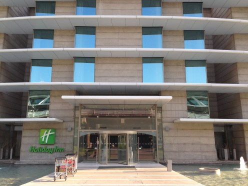 Entrance to the Holiday Inn SCL