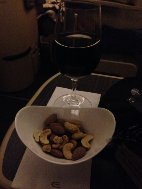 Nuts and red wine