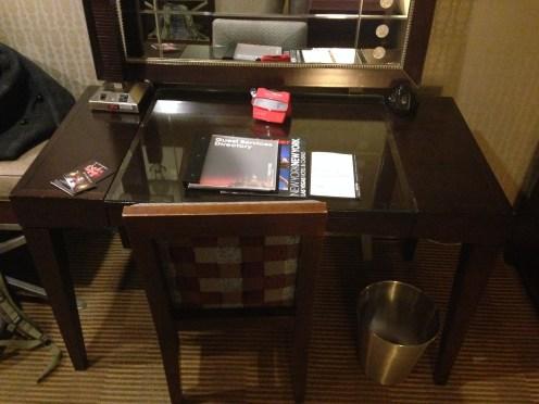 Desk with Vegas brochures