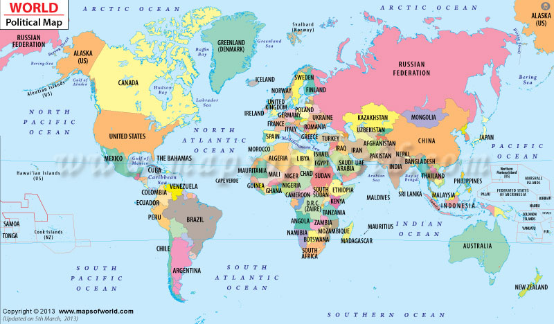 Worldpoliticalmap OUT AND OUT - World political map 2014