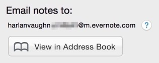"Evernote gives you a private email address - add it to your contacts as ""Evernote""!"