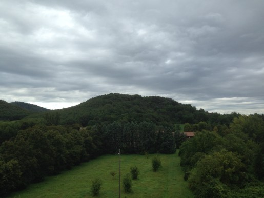 View of the hills