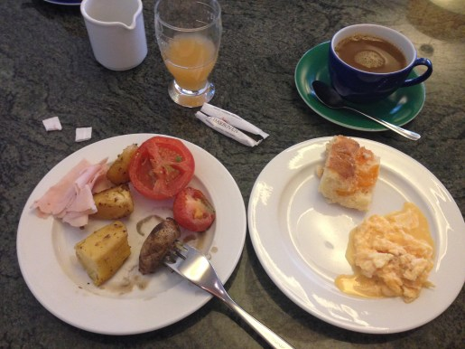My breakfast selections, day 1