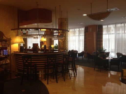 The bar in the lobby