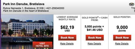 8 nights in Bratislava would also run you ~$500