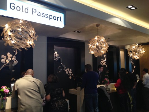 Gold Passport check-in