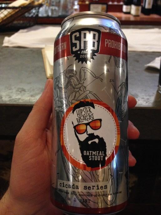SPB Southern Prohibition Hipster Breakfast Oatmeal Stout - nom!
