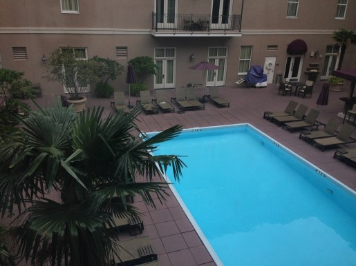 View from the window of the pool on the 2nd floor