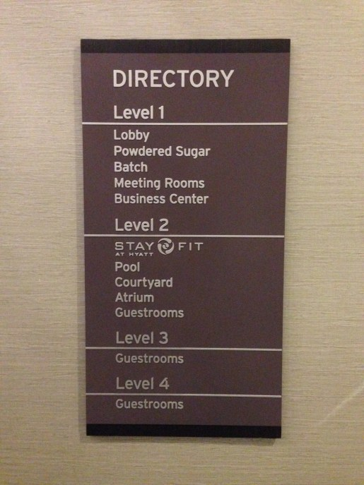 Hotel directory - only 4 floors