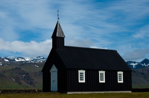 The famous black church in Budir