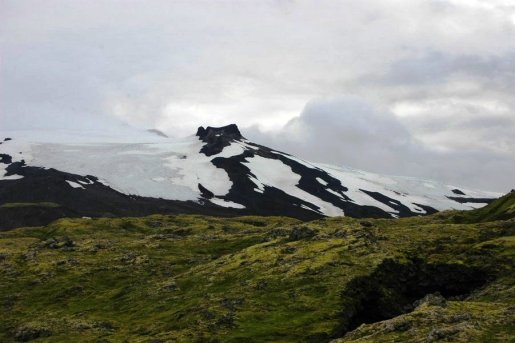 The top of Snaefellsjokull - I saw it on my birthday!