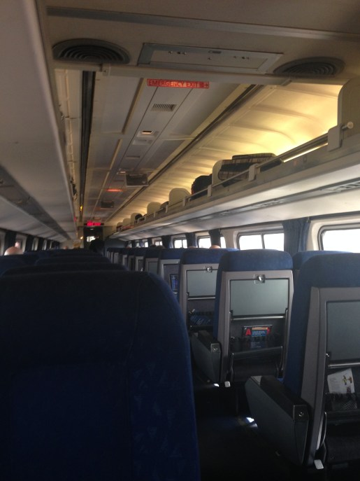 Inside of the business class train cart