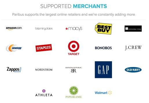 All the Paribus merchants