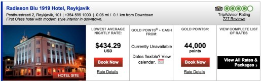 The Radisson Blu 1919 hotel in Reykjavik is a great deal for another week. After June 1st, not so much.