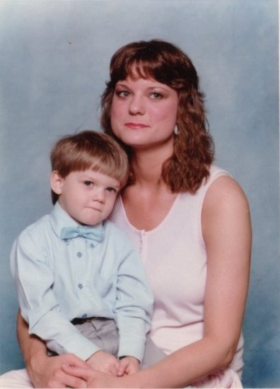 Me and my Mom in 1989. She was a single parent at the time