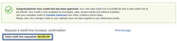 Instantly approved for new credit