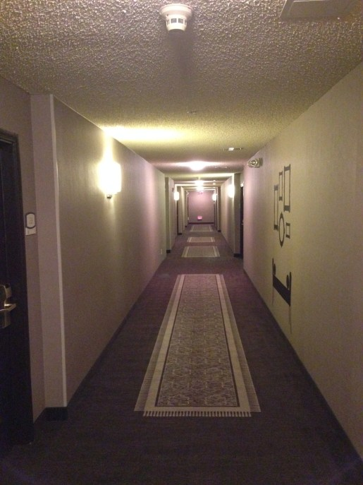 Hallways of the Hyatt House Dallas/Uptown