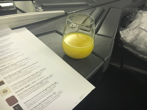 Pre-departure mimosa and drink menu