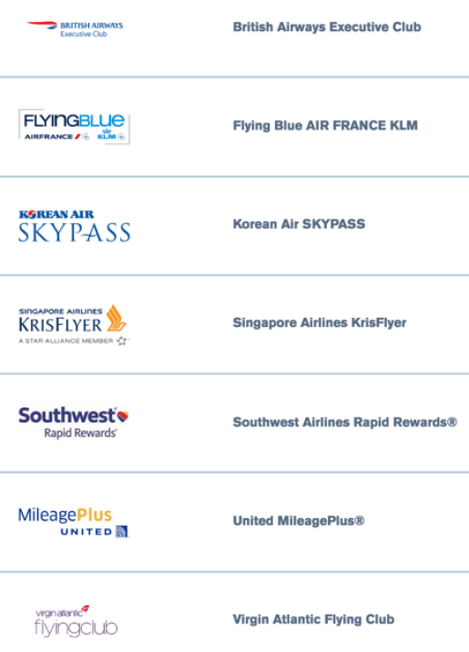 Chase Airline Transfer Partners